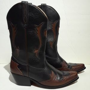 American West Leather Womens Western Boots 8.5M